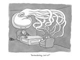 """Intimidating, isn't it?"" - New Yorker Cartoon Premium Giclee Print by Gahan Wilson"
