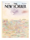 The New Yorker Cover - October 3, 1983 Premium Giclee Print by Saul Steinberg