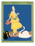 Vogue Cover - June 1914 Premium Giclee Print by Helen Dryden