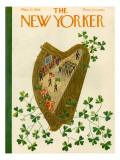 The New Yorker Cover - March 17, 1956 Premium Giclee Print by Ilonka Karasz