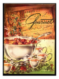 Gourmet Cover - December 1953 Regular Giclee Print by Henry Stahlhut