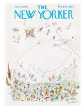 The New Yorker Cover - September 9, 1961 Premium Giclee Print by Saul Steinberg