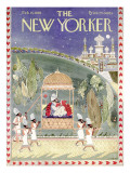 The New Yorker Cover - February 15, 1958 Premium Giclee Print by Anatol Kovarsky
