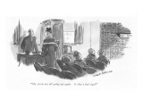 """My stocks are all going up again. Is that a bad sign?"" - New Yorker Cartoon Premium Giclee Print by Helen E. Hokinson"