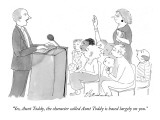 """""""Yes, Aunt Toddy, the character called Aunt Toddy is based largely on you."""" - New Yorker Cartoon Premium Giclee Print by Emily S. Hopkins"""