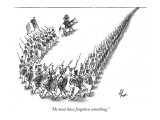 """He must have forgotten something."" - New Yorker Cartoon Premium Giclee Print by Frank Cotham"