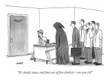 """""""It's death, taxes, and four out of five dentists—are you in?"""" - New Yorker Cartoon Premium Giclee Print by Tom Cheney"""