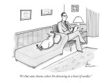 """It's that same dream, where I'm drowning in a bowl of noodles."" - New Yorker Cartoon Premium Giclee Print by Leo Cullum"
