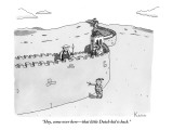 """""""Hey, come over here—that little Dutch kid is back."""" - New Yorker Cartoon Premium Giclee Print by Zachary Kanin"""