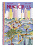 The New Yorker Cover - April 21, 1928 Premium Giclee Print by Ilonka Karasz