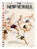 The New Yorker Cover - August 1, 1936 Premium Giclee Print by Constantin Alajalov