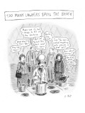 Lawyers giving advice to angry chef. - New Yorker Cartoon Premium Giclee Print by Roz Chast