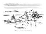 """Hold it—we almost forgot his benefits package."" - New Yorker Cartoon Premium Giclee Print by Lee Lorenz"