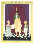 Vogue Cover - November 1916 Premium Giclee Print by Irma Campbell