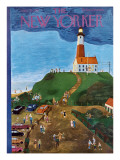 The New Yorker Cover - July 21, 1951 Premium Giclee Print by Ilonka Karasz
