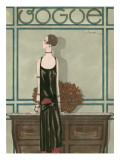 Vogue - February 1925 Regular Giclee Print by Georges Lepape