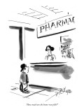 """How much are the home-run pills?"" - New Yorker Cartoon Premium Giclee Print by Donald Reilly"