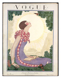 Vogue Cover - June 1925 Premium Giclee Print by Georges Lepape