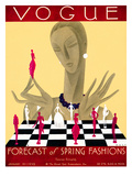 Vogue Cover - January 1929 Regular Giclee Print by William Bolin