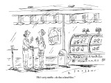 """He's very stable—he has a land line."" - New Yorker Cartoon Premium Giclee Print by Barbara Smaller"