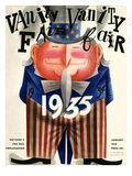 Vanity Fair Cover - January 1935 Premium Giclee Print by Miguel Covarrubias