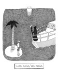 Good news/bad news - New Yorker Cartoon Premium Giclee Print by J.C. Duffy