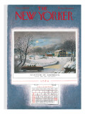 The New Yorker Cover - December 25, 1954 Premium Giclee Print by Garrett Price