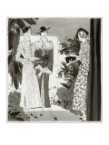 Vogue - February 1935 Regular Giclee Print by Jean Pagès