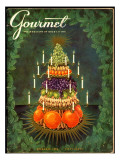 Gourmet Cover - December 1956 Premium Giclee Print by Hilary Knight