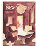 The New Yorker Cover - January 25, 1982 Premium Giclee Print by Jean-Jacques Semp&#233;