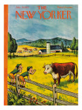 The New Yorker Cover - July 25, 1953 Premium Giclee Print by William Steig
