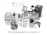 """The jury has found you guilty. Let's see how America voted."" - New Yorker Cartoon Premium Giclee Print by Mike Twohy"
