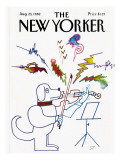 The New Yorker Cover - August 23, 1982 Premium Giclee Print by Saul Steinberg