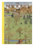 The New Yorker Cover - April 22, 1950 Premium Giclee Print by Ilonka Karasz