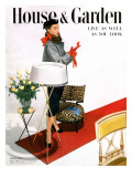 House & Garden Cover - October 1950 Premium Giclee Print by Horst P. Horst