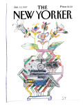 The New Yorker Cover - January 12, 1987 Regular Giclee Print by Saul Steinberg