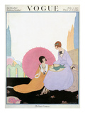 Vogue Cover - July 1917 Premium Giclee Print by Helen Dryden