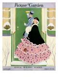 House & Garden Cover - January 1916 Regular Giclee Print by L. M. Hubert