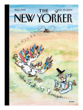 Thanksgiving Skedaddle - The New Yorker Cover, November 30, 2009 Regular Giclee Print by George Booth