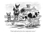"""I had confirmation from three independent sources."" - New Yorker Cartoon Premium Giclee Print by Lee Lorenz"