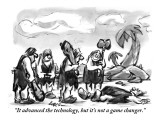 """It advanced the technology, but it's not a game changer."" - New Yorker Cartoon Premium Giclee Print by Lee Lorenz"