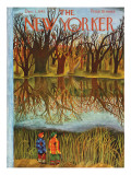 The New Yorker Cover - December 1, 1945 Premium Giclee Print by Ilonka Karasz