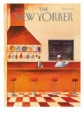The New Yorker Cover - January 10, 1983 Premium Giclee Print by Abel Quezada