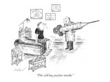 """This will buy you four months."" - New Yorker Cartoon Premium Giclee Print by Edward Koren"