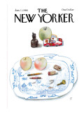 The New Yorker Cover - January 7, 1980 Premium Giclee Print by Saul Steinberg