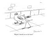 """Maybe I should run on the beach."" - New Yorker Cartoon Premium Giclee Print by Danny Shanahan"
