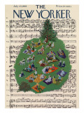 The New Yorker Cover - July 23, 1955 Regular Giclee Print by Ilonka Karasz