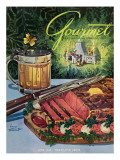 Gourmet Cover - June 1949 Premium Giclee Print by Henry Stahlhut