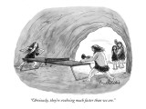 """Obviously, they're evolving much faster than we are."" - New Yorker Cartoon Premium Giclee Print by Mort Gerberg"