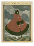 Vogue Cover - October 1917 Premium Giclee Print by Georges Lepape